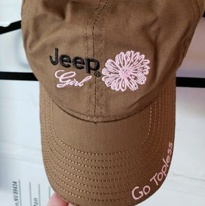 Chocolate brown and pink Jeep hat